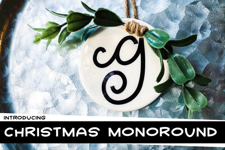 Christmas Monoround a Monogram Font example image 1