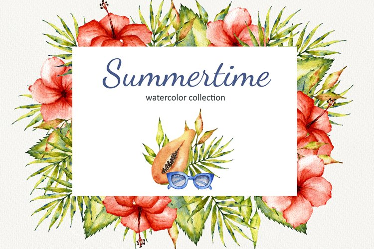 """""""Summertime"""" Watercolor set example image 1"""