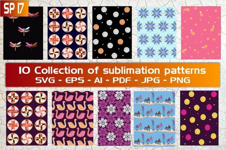 SP17, 10 Collection of sublimation patterns