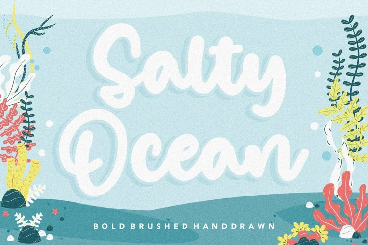 Salty Ocean Bold Brushed Handdraw Font example image 1