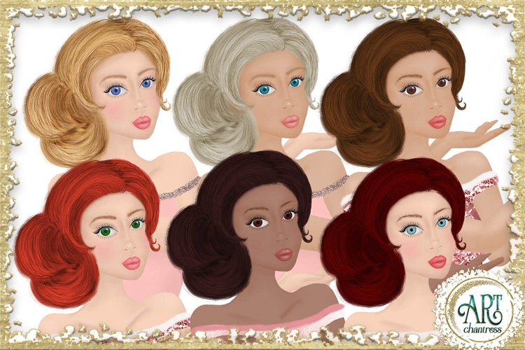 Party Girls Clipart example image 1