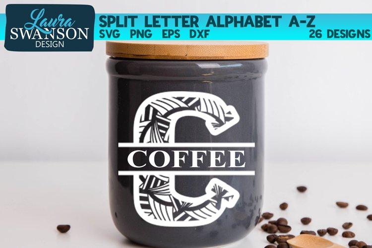 Split Letters A-Z Monogram Mandala Letters A-Z SVG Bundle