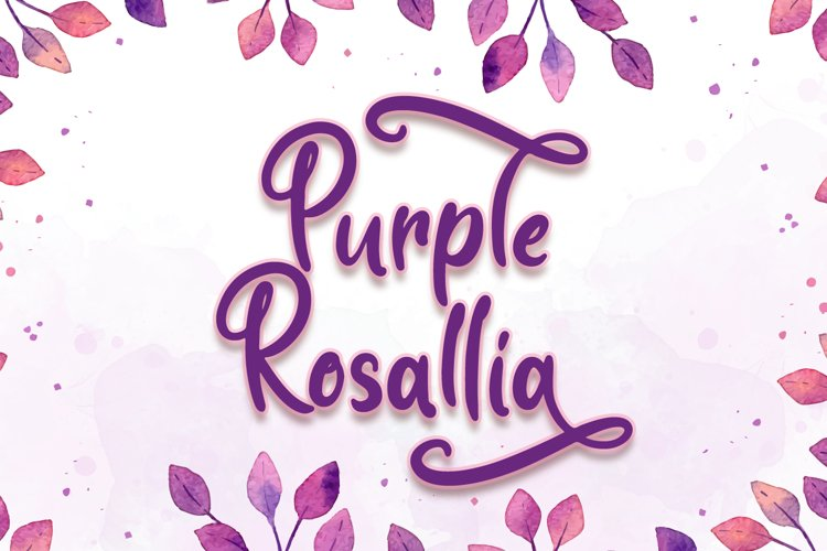 Purple Rosallia - Wedding Font example image 1