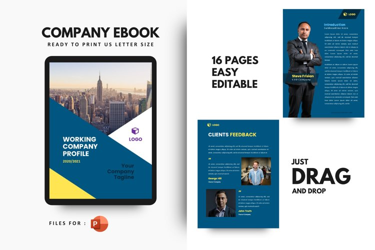 Pro Company Profile 2020 eBook Template PowerPoint Presentat example image 1