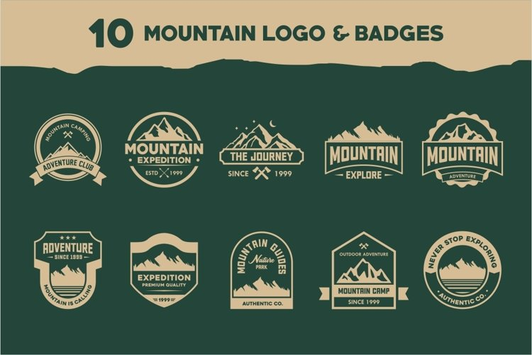 Mountain Logo And Badges