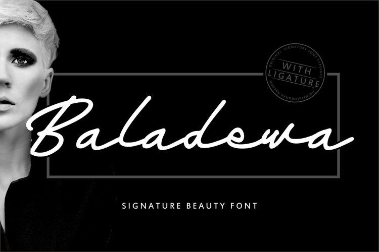 Baladewa | Signature Beauty Font example image 1