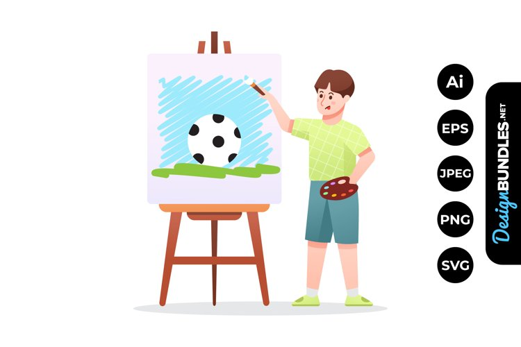 Child Painting Clipart example image 1