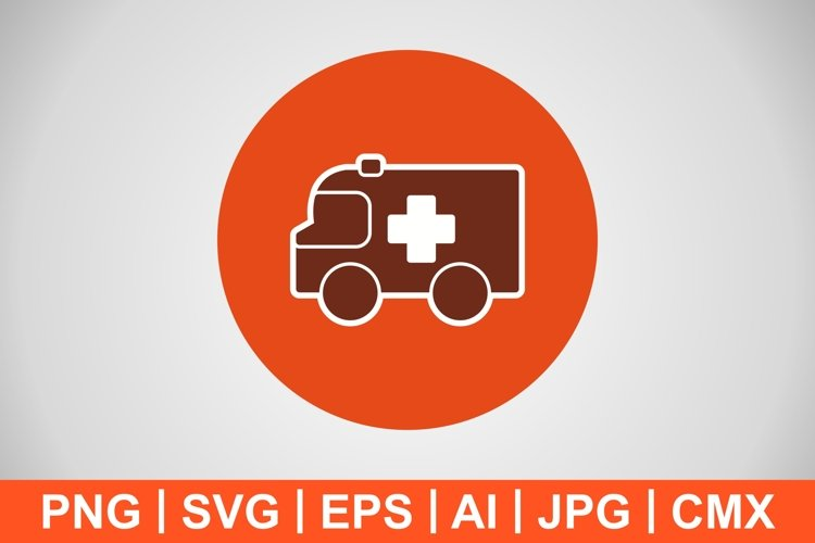 Vector Ambulance Icon example image 1