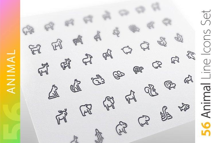 Animal Line Icons Set example image 1