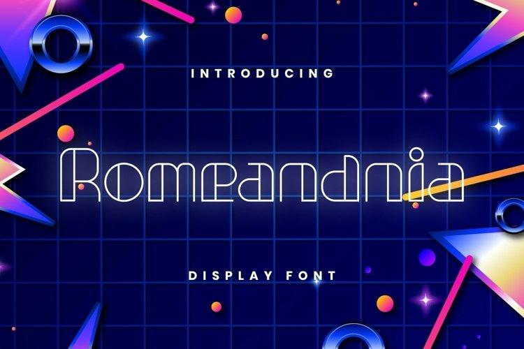 Web Font Romeandnia Font example image 1