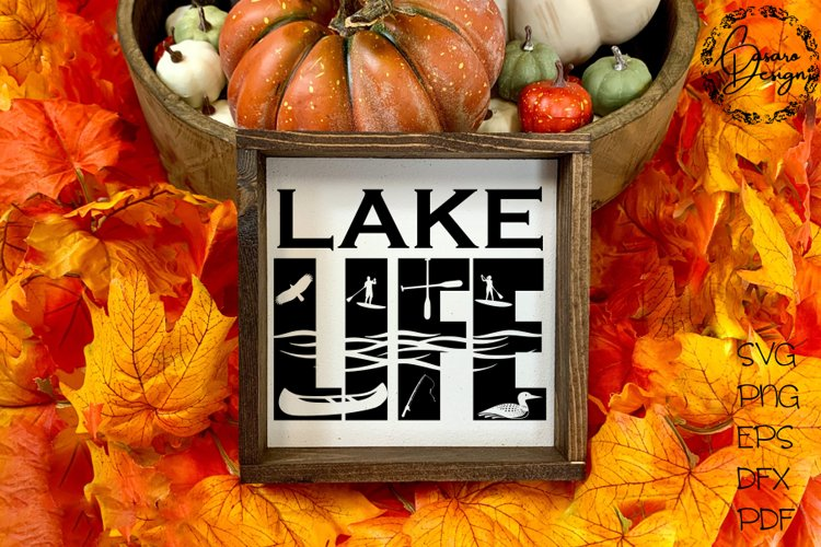 Lake Life Design, SVG, PNG, ETC example image 1
