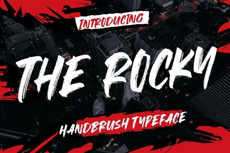 The Rocky Handbrush Typeface example image 1
