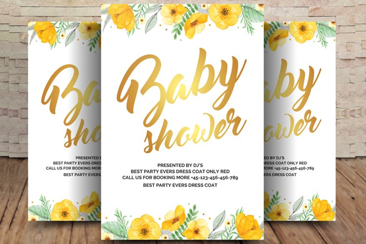 Baby Shower Flyer example image 1