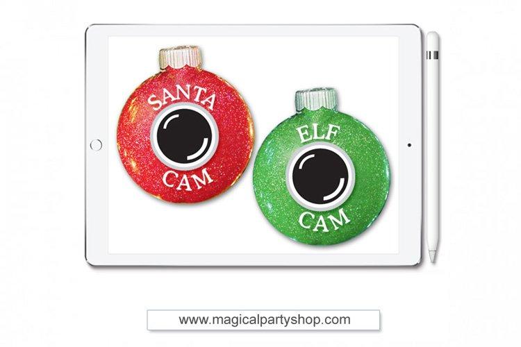 Santa and Elf Cam Christmas Svg Cut File example image 1