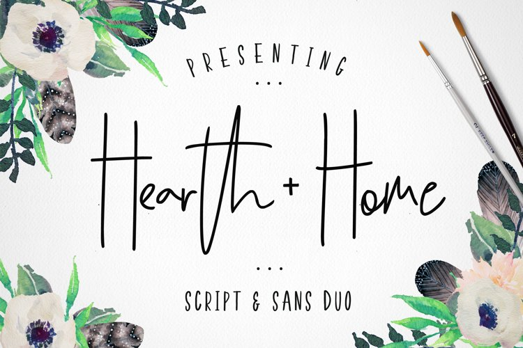 Hearth & Home Font Duo example image 1