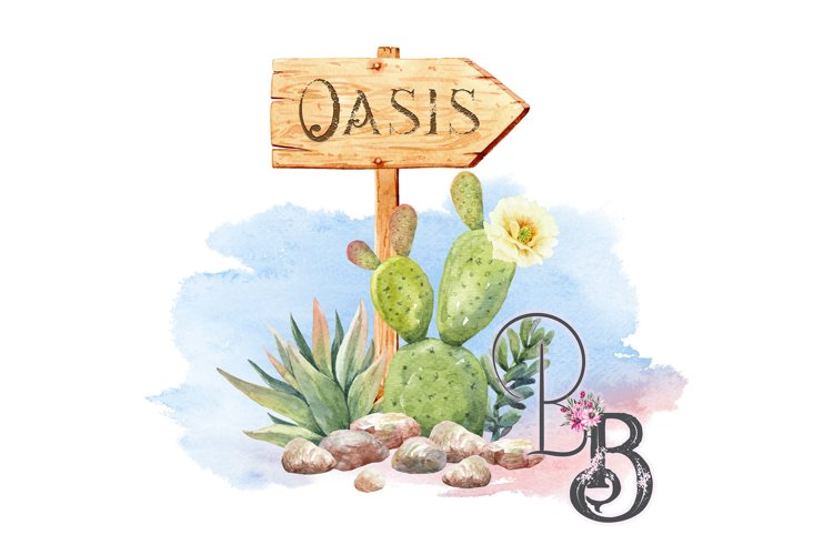 Oasis Sign Cactus West example image 1