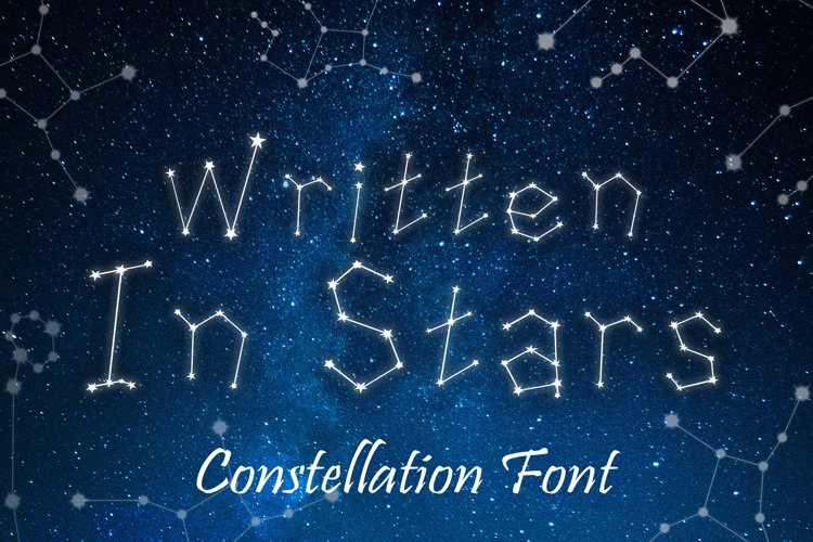 Written in Stars, Constellation Zodiac Font! example image 1