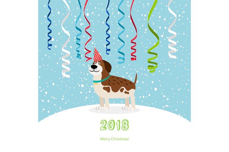 Dog and ribbons 2018 christmas card example image 1