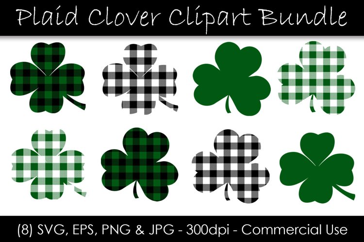 St. Patrick's Day Shamrocks and Clovers SVG example image 1
