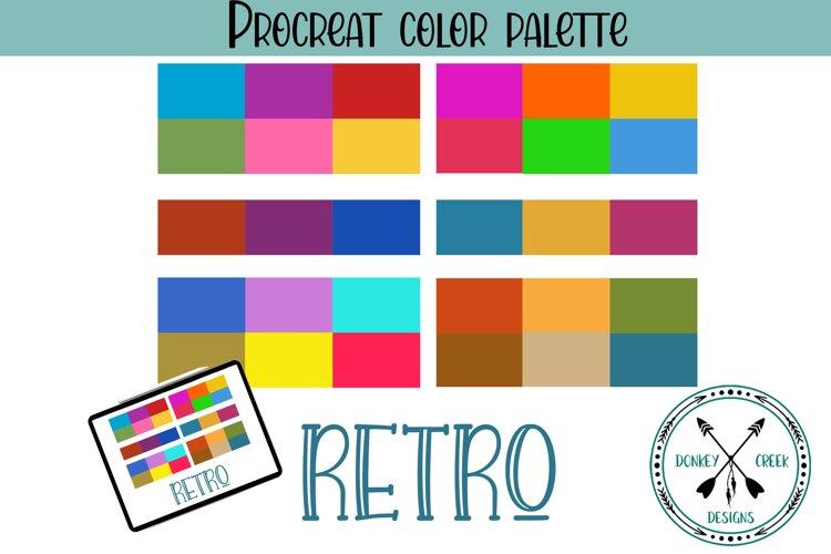 Retro Procreate Color Palette example