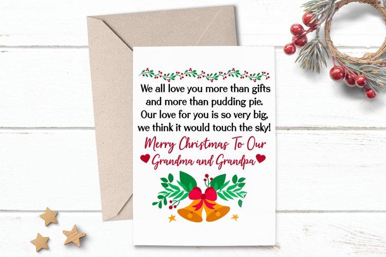 Printable Christmas Card Greeting for Grandma Grandpa example image 1