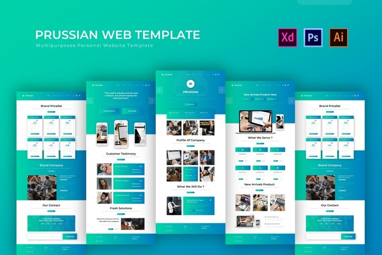 Prussian   Web Template example image 1