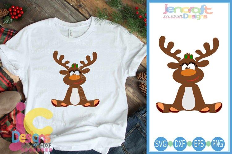 Girl Reindeer SVG - Christmas SVG cut file