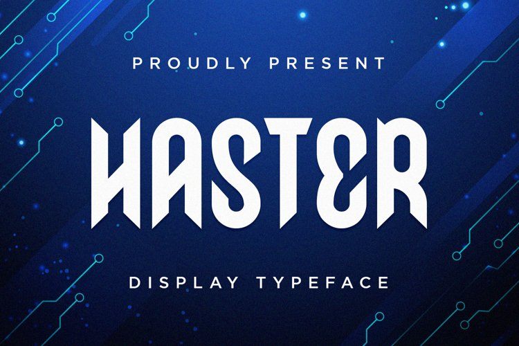Haster - Display Font example image 1