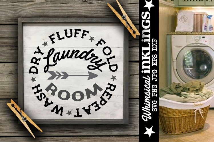 Wash Dry Fluff-Laundry Room SVG