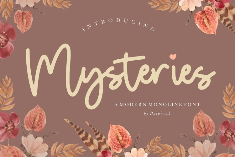 Mysteries Modern Monoline Font example image 1