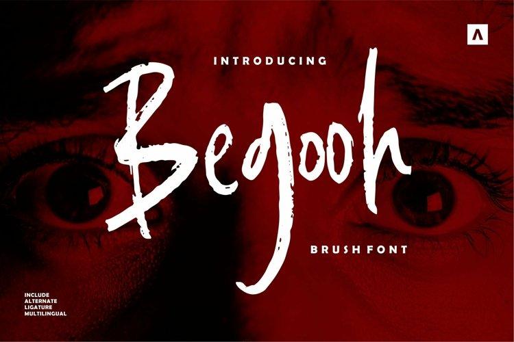 Web Font Begooh - Brush Font example image 1