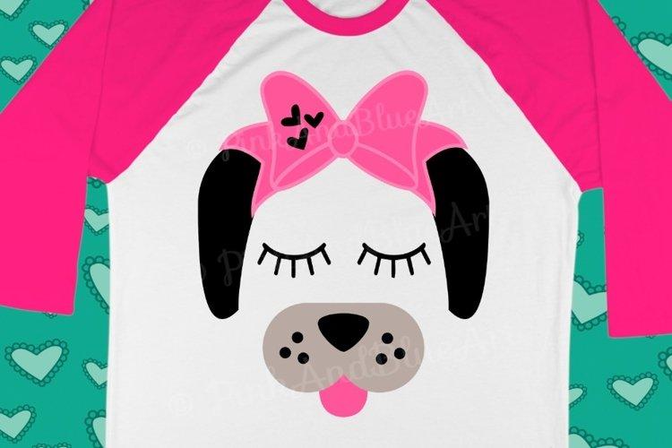 Dog Bow Birthday Cute Popular Girl svg shirt design example image 1