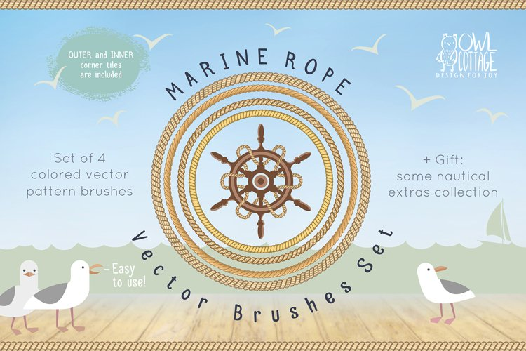 Marine Rope Pattern Brushes Set example image 1