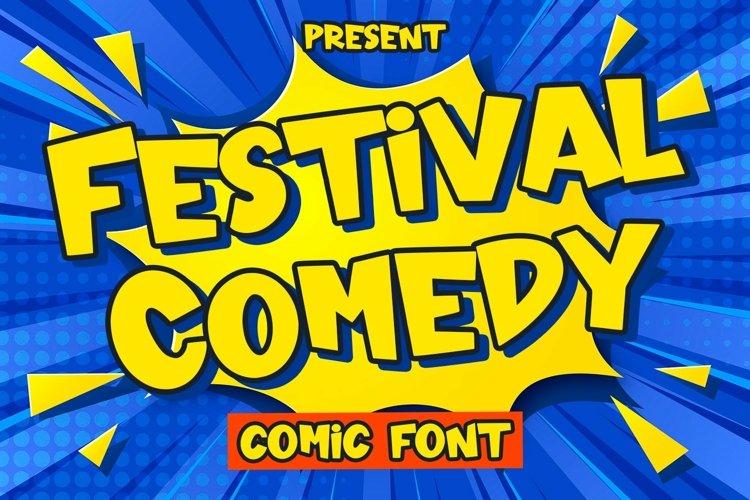 Web Font Festival Comedy - Comic Font example image 1