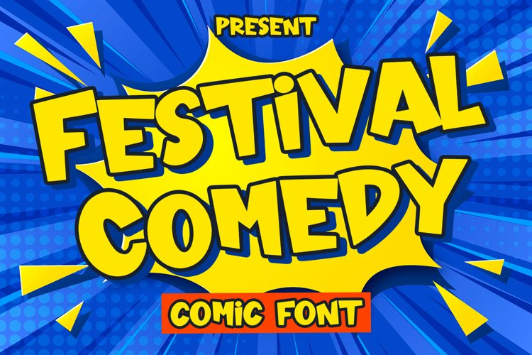 Festival Comedy - Comic Font example image 1