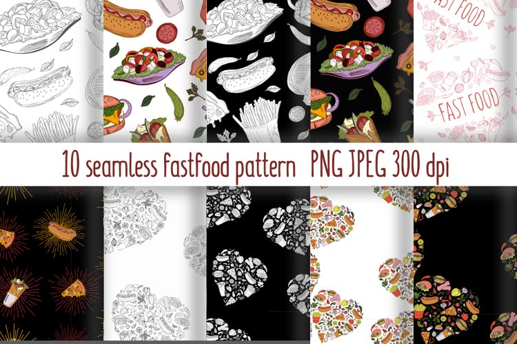 Fast Food Pattern collection example image 1
