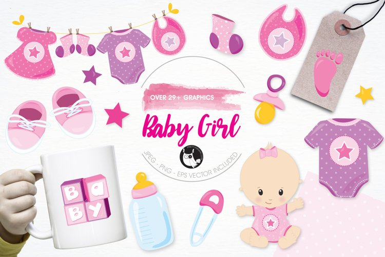 Baby Girl graphics and illustrations example image 1