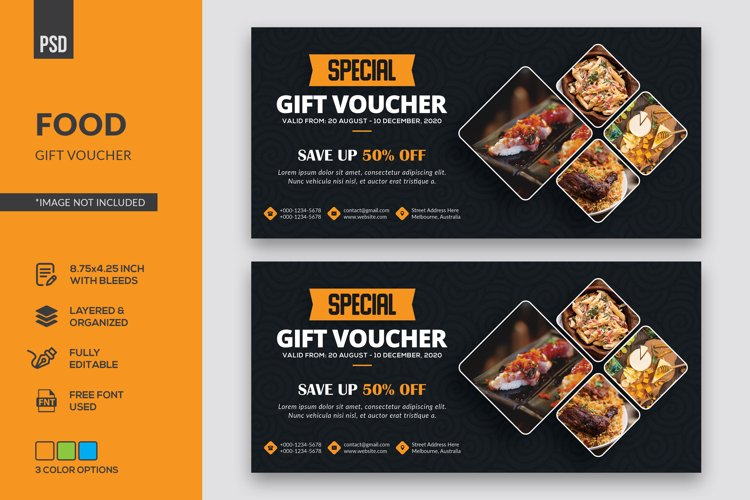 Food Gift Voucher example image 1