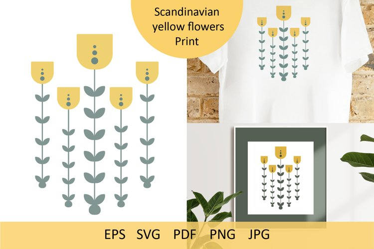 Scandinavian yellow flowers