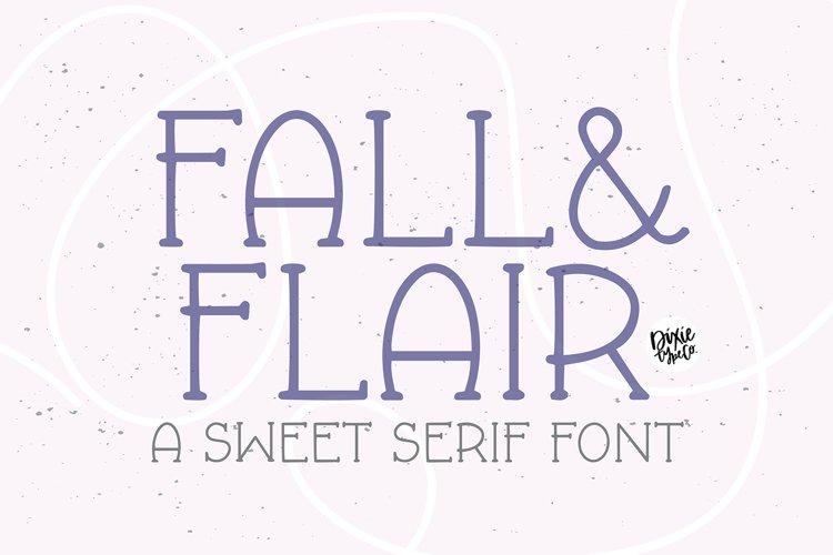 FALL & FLAIR Farmhouse Serif Font