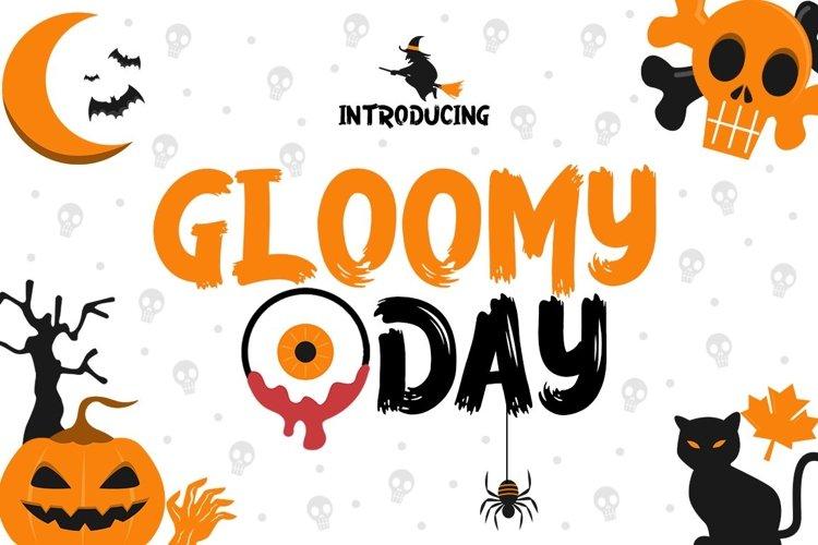 Web Font Gloomy Day example image 1