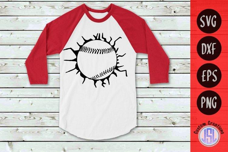 Cracked Glass Baseball | Baseball SVG | SVG EPS DXF PNG example