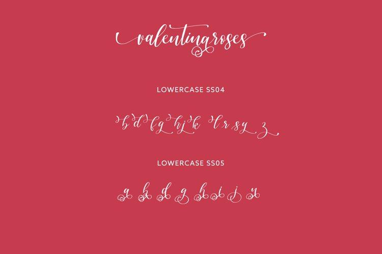 Valentinaroses Lovely Script Font example 6