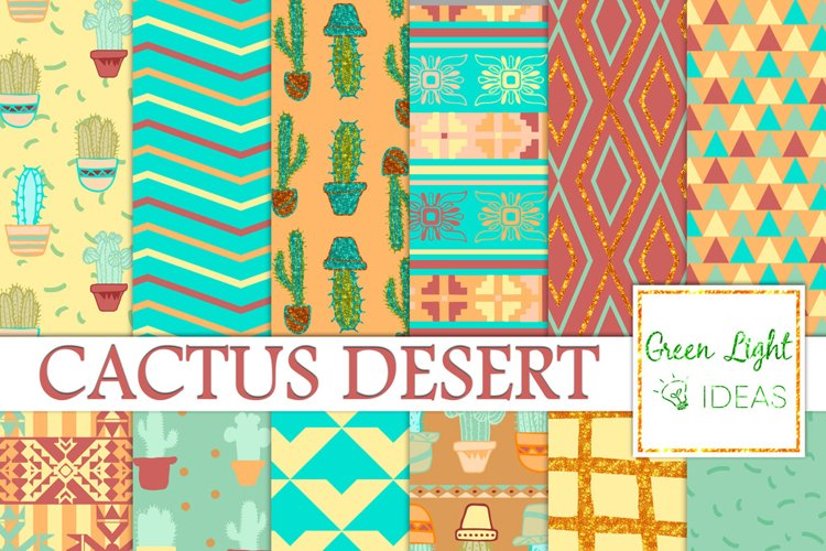Cactus Digital Papers, Cacti Backgrounds, Southwest Patterns