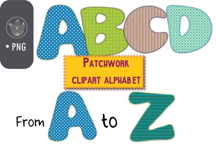 Patched quilt alphabet png Clip art, Stitch effect letters