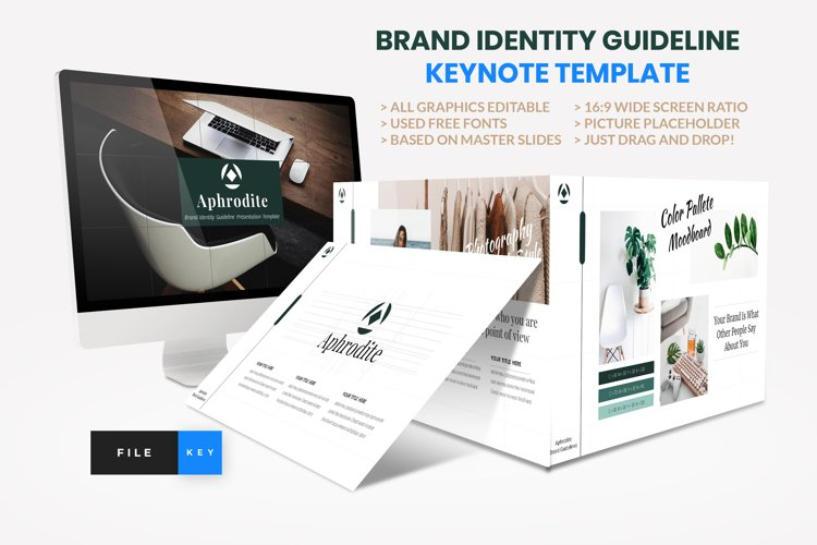 Brand Identity Guideline Keynote Template example image 1