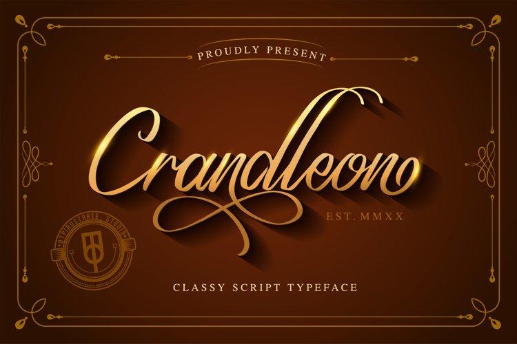 Crandleon Classy Script Typeface