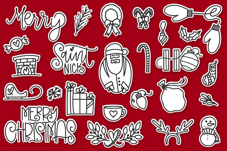 Christmas Dingbats - A font filled with Christmas symbols example image 1