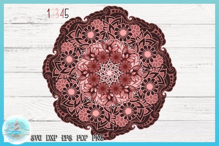 3D SVG Layered Design | Flower Mandala SVG file example image 1