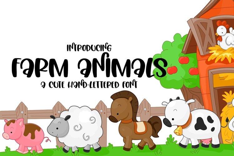 Web Font Farm Animals - A Cute Hand-Lettered Font